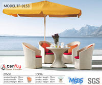 2015 new collection modern miami plastic rattan woven furniture outdoor