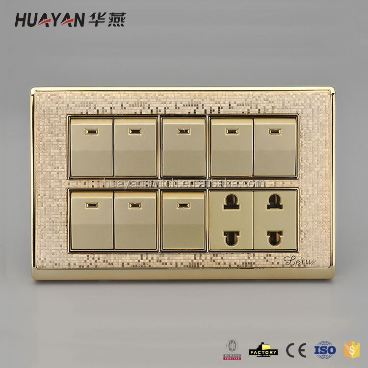 Latest superior quality waterproof switched socket outlets from China