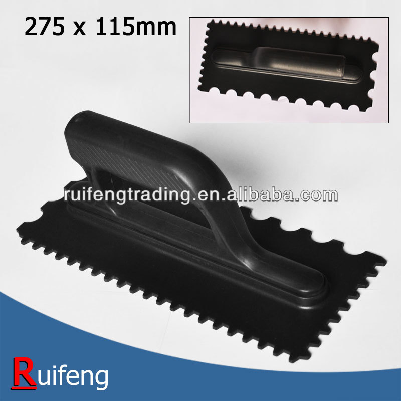 275x115mm ABS notched trowel with grout spreader