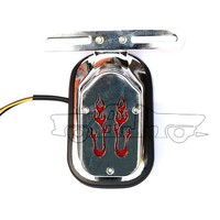 BJ-LPL-019 Universal firestorm motorcycle assembly LED rear brake tail light led license plate