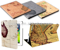 VALUE World Map Pattern Stand Leather Case Cover for THE GENUINE iPad 2,3,4 Mini