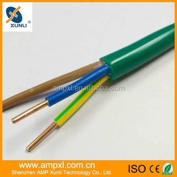 3 cores PU jacket coiled electrical wire 2.5mm