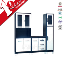 2015 hot sale heavy duty kitchen furniture equipment / knock down cold rolled steel metal kitchen cabinet