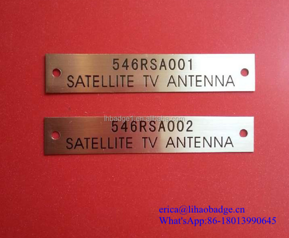 Metal sign board,small metal plate ,metal trademark for LOGO Embossing