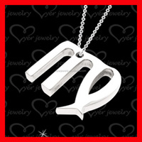 unique cheap letters custom stainless steel pendant