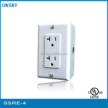 universal electric socket outlet look like gfci receptacle with bottom box and wallplate