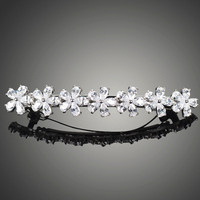 Very Beautiful Made Luury AAA Level CZ Diamond Hair Clips for Women Nice Flower Bride Marriage Hair Accessories F00005