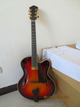 Discount cheap price arch top solid wood jazz guitar