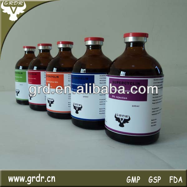 LA Antibacterial Drug Oxytetracycline Liquid 5% for cattle