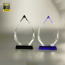 business gift memorial crystal blanks award trophy glass plaques
