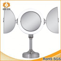 stainless steel acrylic mirror frame,small round standing mirror,adhesive sheet mirror