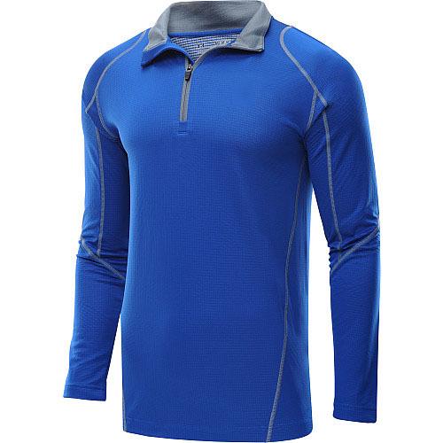 Dri fit long sleeve uv protection custom flatlock sports for Mens long sleeve uv protection shirt