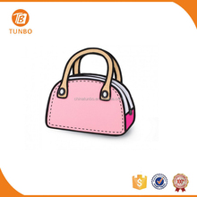 Stock Best Selling High Quality Cute Cartoon 3D Hand Bag for Ladies