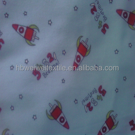Fashion Garment Twill Woven 100% Cotton printed Flannel Fabric