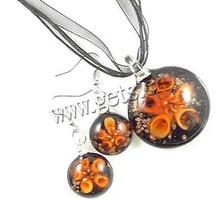 Lampwork Coin Holly Willoughby Gold Coin Necklace 604258