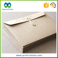 Coin closure brown kraft paper business c5 envelopes recycled