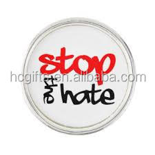 Free shipping 1 inch support orlando Stop the hate lapel pin