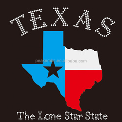 Iron on Texans Transfer Motif Rhinestone in Houston for Custom Shirts Wholesale