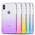 DFIFAN Colorful design for iphone X covers, high quality soft tpu material for apple iphone X Gradient Cell Phone Cases