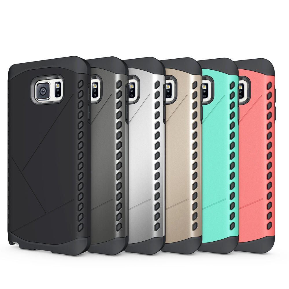 Dual Layer Hard PC Cover+Silicone Case Hybrid Defender Shockproof Protective Case for Samsung Galaxy Note 5