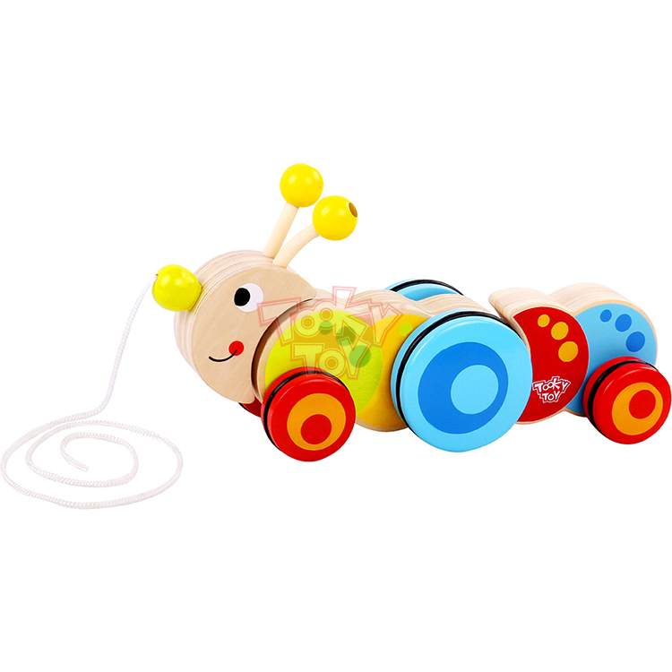 China Plywood Toy Pull Along - Caterpillar