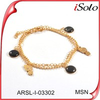 Alibaba China Gold Supplier Ankle Bracelets Girls Gold Chain Bracelets