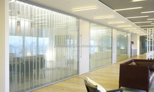 customized tempered glass Aluminum office partition system