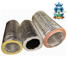 HVAC greenhouse system two layers silver round exhaust pipe insulation