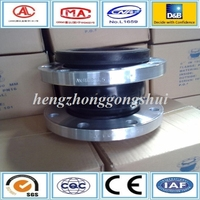 dn50 pn16 neoprene rubber compensator PTFE expansion joint