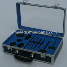 2013Newest Design Great Blue Acrylic Box First Aid Tools Boxes Aluminum