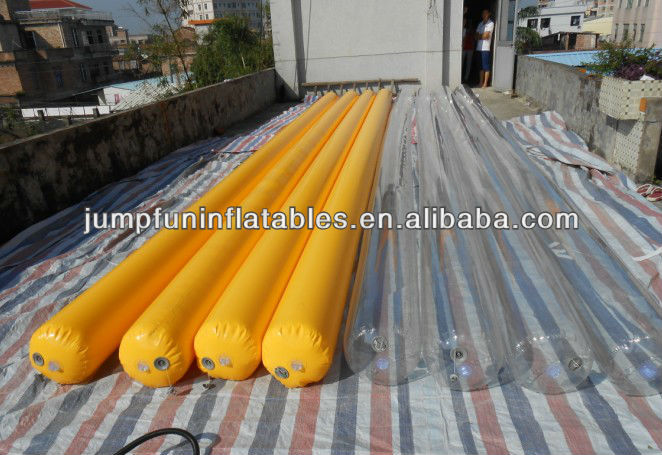 9.2meter long inlftable air tube/0.6mm PVC tarpaulin floating tube/inflatable buoy