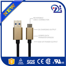 mfi approved 3 in 1 cable with type c, micro usb and 8pin connector for macbook for iphone for samsung