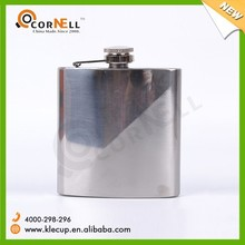 new product gift item Sand polished hip flask with strip pattern/unique hip flask/ alcohol 6 oz silver hip flask