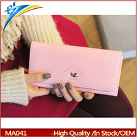 Hot Branded flap Clutch long wallet Checkbook Change Card Coin Bag Women Purse Ladies Travel Handbag with bird 2015