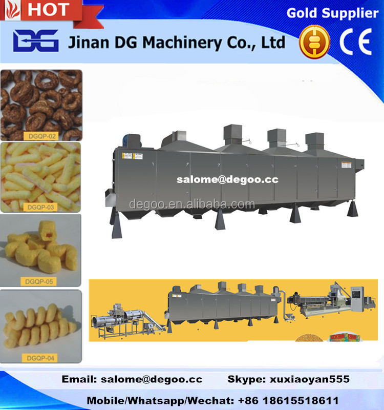 Rusk corn sticks /corn ball puffs food extruder machine /processing equipment with CE ISO certificated