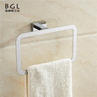 Square shape Economical China manufacture Zinc alloy Chrome plated Bathroom accessories Wall mounted towel ring