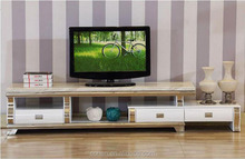 hot selling royal luxury high gloss stainless steel TV stand/cabinet design E1073