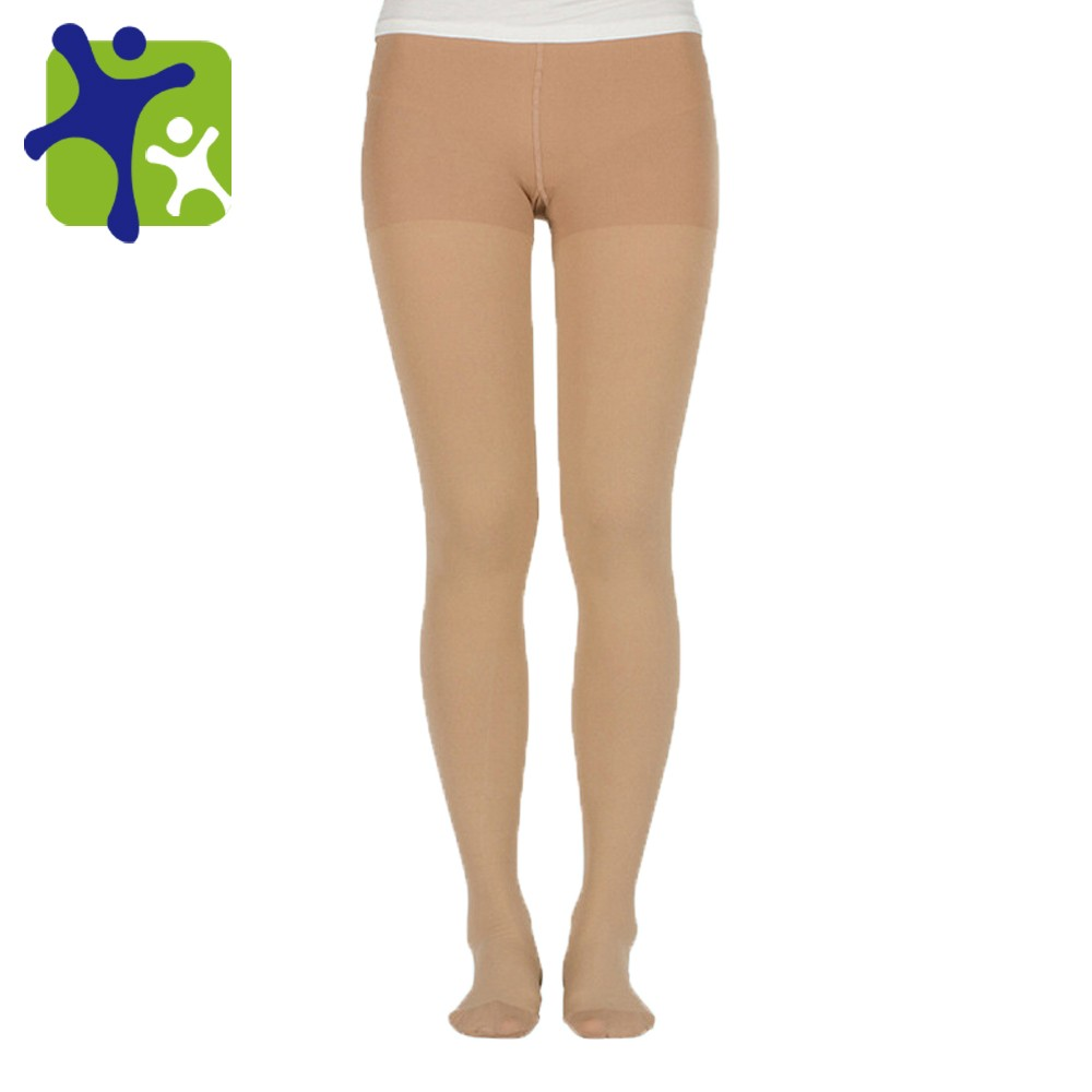 Medical Graduated 30-40mmHg compression tights hose, unisex stockings open and close toe panty hose
