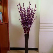 purple artificial dried peony bud branch high-quality Dried peony flower plant 120cmH fake peony branch for decoration
