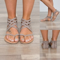 NJ0841 New Summer Strappy Flat Bohemia