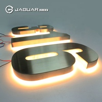 Factory supply led backlit stainless steel number letters luminous house numbers