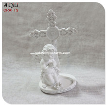 praying resin white angel for home or church