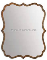 curved wooden mirror frame design