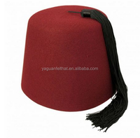 felt muslim hats, wool felt fez hats blank wholesale