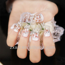 Beuaty sticker Self Adhesive Wedding Style White Lace Nail Wraps for finger nails