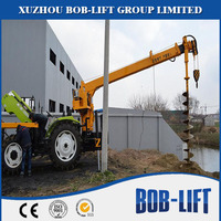 BOB-LIFT 8 Ton Truck Crane with Auger Drill