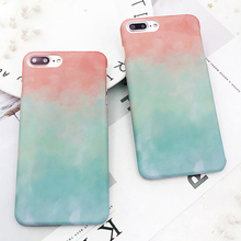 2017 New Matte Lake blue Hard Plastic Cell Phone Case For iPhone X 8 Plus 6 7