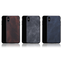 Phone Accessories Soft Real Leather Case for iPhone X Genuine Leather Back Cover