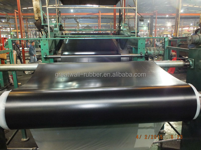 wholesale smooth surface industrial 3m width SBR Rubber sheet