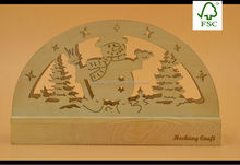 Snowman Christmas wooden laser cutting decorations